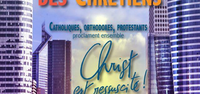 Dimanche 16 avril à 07h 30, catholiques, orthodoxes, protestants proclament ensemble CHRIST EST RESSUSCITE En présence des évêques et des responsables des Églises. Chacun pourra retourner dès 8h30 dans son […]