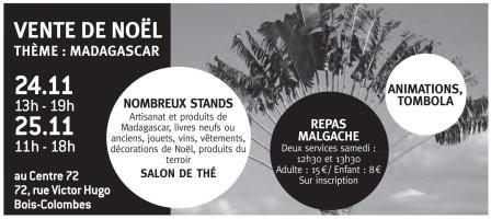 Vente de Noël les 24 et 25 novembre au Centre 72 sur le thème de «Madagascar». C'est toujours un temps communautaire fraternel, c'est aussi l'occasion de trouver des idées de […]